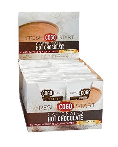 COGO Caffeinated Hot Chocolate, 50 one ounce envelopes