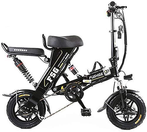 Elektrofahrrad Mountainbike Elektrische Fahrräder für Erwachsene, 12-Zoll-Reifen-Falten-elektrisches Fahrrad mit 8/10 / 12.5ah-Lithium-Batterie, stilvolles Ebike mit einzigartigem Design, 3 Arbeitsmod