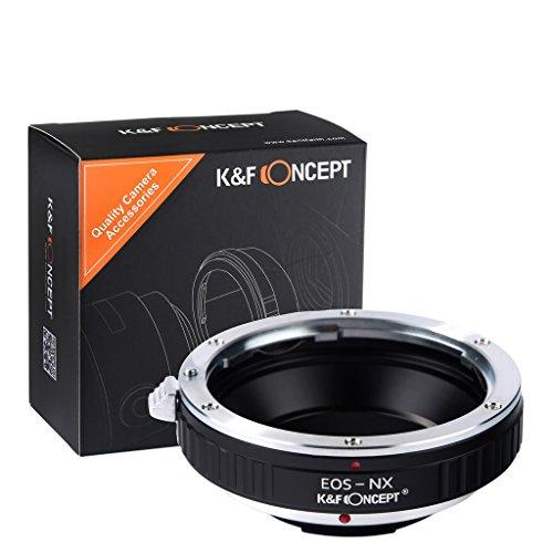 K&F Concept EOS-NX Objektivadapter Canon EOS Adapter Objektiv Adapterring für Canon EOS EF Objektiv auf Samsung NX SLR-Kamera außer Samsung NX1000 NX2000 NX3000