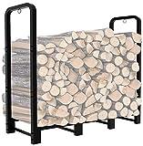 Artibear Firewood Rack Stand 4ft Heavy Duty Logs Holder for Outdoor Indoor...