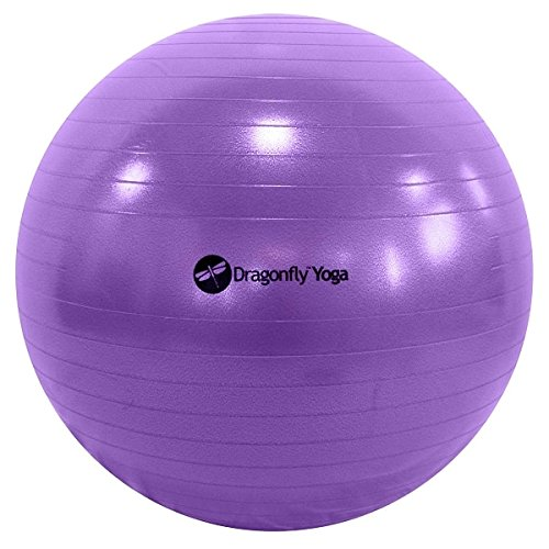 Dragonfly Yoga Premium Anti-Burst Fitness Ball, Blue, 75cm