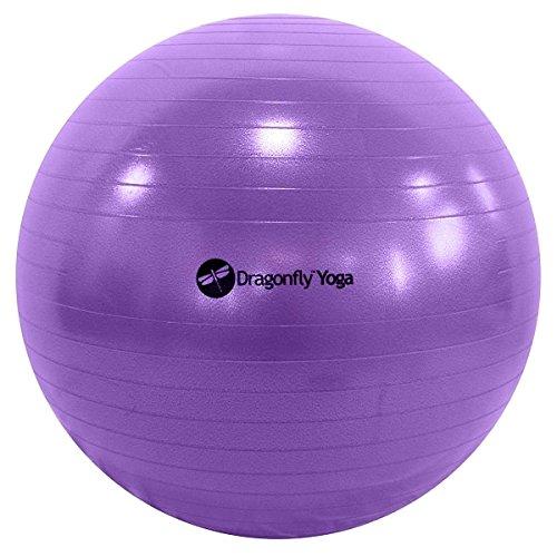 Dragonfly Yoga Premium Anti-Burst Fitness Ball, Unisex, Y141BALPUR55, Purple, 55 cm