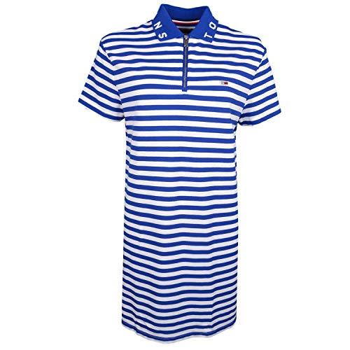 Hilfiger Denim Damen TJW Essential Stripe Polo Dress Kleid, Blau (Limoges/Classic White 434), Medium (Herstellergröße: M)