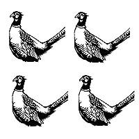 鳥 の庭のシルエットの庭の芸術、お祭りの装飾、庭の看板の装飾、庭の影の装飾、レトロな庭の彫像 (Color : Metallic C)