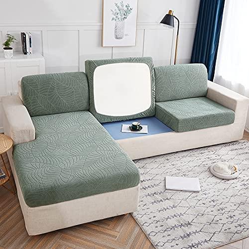 PPOS Wasserdichter hochwertiger Sofa Sitzkissenbezug Möbelschutz für Haustiere Kinder Stretch Waschbar Abnehmbarer Schonbezug A5 1Sitz 90-140cm-1pc