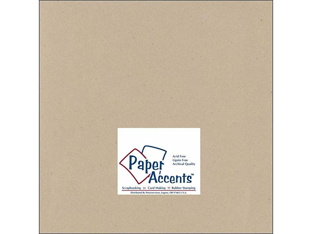 Accent Design Paper Accents ADPaperRecycled12x12Kraft Cdstk Recycled 12x12 80# Kraft