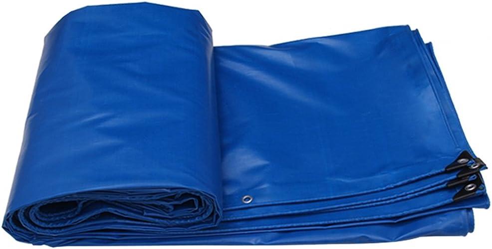 LQq-Baches Bache résistante imperméable de bache de Poncho de bache-bleue faite de 520g m2 pour camper,pêcher,jardinage-100% imperméable UV prougeégé pour le camping en plein air (taille   7X5M)