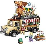 Bloques construcción Miniatura Mini Building Blocks, 1317 PCS Mini Ciudad Carrito Hot Dog Carter Bricks Car Figurine Modelo Bloques de construcción Vehículo Juguetes educativos for niños Regalos
