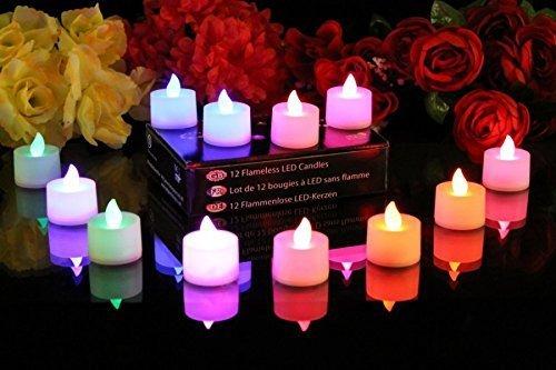 Swanky Home Decor Led Light Multi Color Dia Deepak Lamp For Diwali Decoration Pooja 12 Diwali Diya Led Colour Changing Tealights Buy Online In Guam At Desertcart