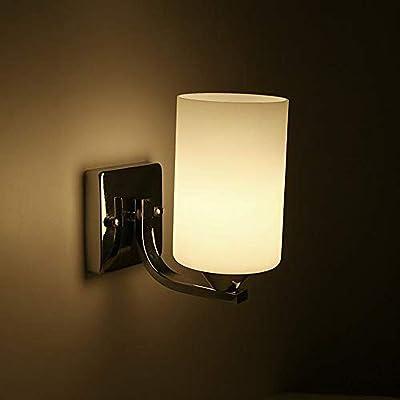 Lámpara de pared de vidrio de metal creativo minimalista moderna Sala de estar Dormitorio Estudio Escalera Pasillo Pasillo Soporte Luz: Amazon.es: Iluminación