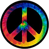 Peace Sign (Tie Dye) - Small Bumper Sticker or Laptop Decal (3.5' Circular)