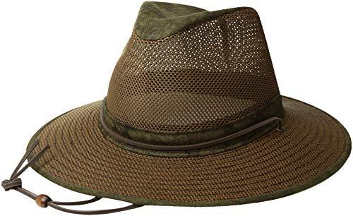 Henschel Hats Aussie Breezer 5310 Cotton Mesh Distress Gold Hat, Medium