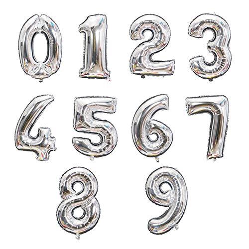Globo con número de Oro Rosa y Plata de Gran tamaño,Decoraciones de Fiesta de cumpleaños,Bodas,Globos de Papel de Aluminio,Juguete para Chico y niño,Baby Shower