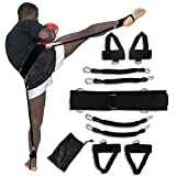 IMMER LIEBEN Boxing Resistance Training Bands Vertical Jump Trainer Speed and Agility Resistance Bands for Boxing, Basketball, Football Trainer and More Full Body Resistance Bands for Adult Children