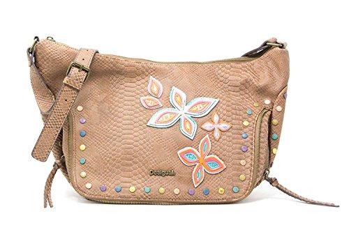 Desigual Damen Handtasche Tasche Schultertasche FLY PATCH SOMALIA Kunstleder Braun 18SAXPDS-6011