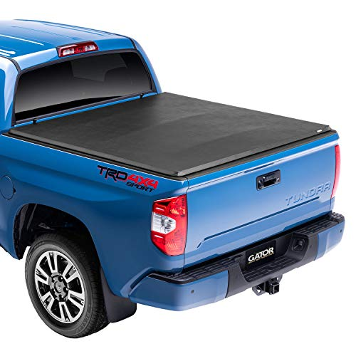 Gator ETX Soft Tri-Fold Truck Bed Tonneau Cover | 59401 | Fits 2007 - 2013 Toyota Tundra 5' 5' w/o rail system Bed | Made in the USA
