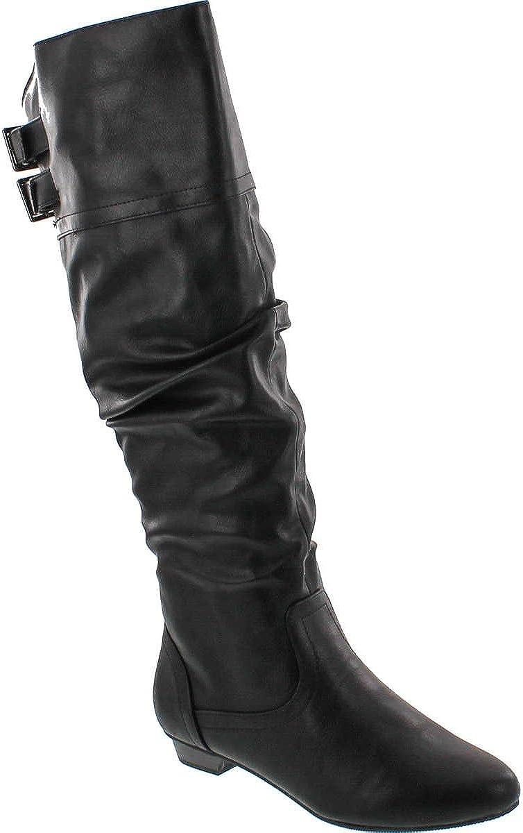Soda Carano Vegan Slouchy Mid Calf Riding Boot