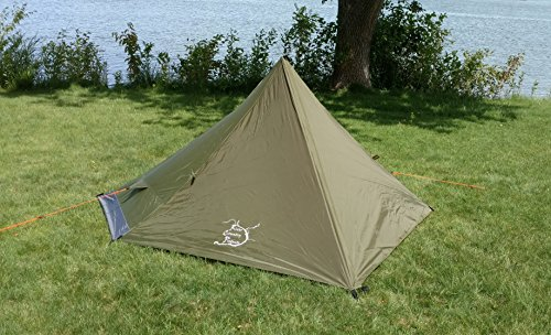 River Country Products One Person Trekking Pole Tent, Ultralight Backpacking Tent – Green