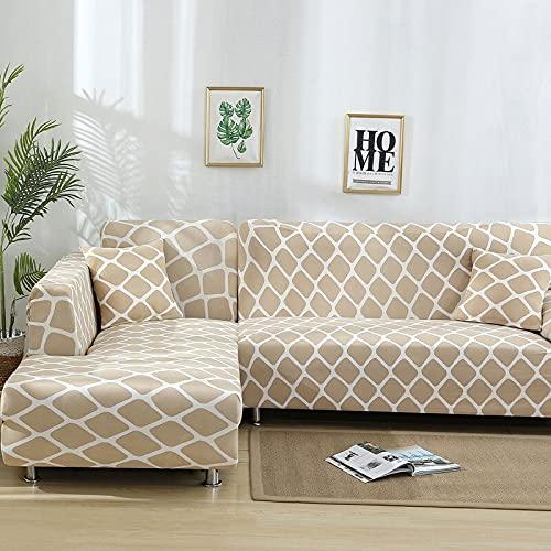 ASCV Fundas de sofá de Esquina geométricas para Sala de Estar Fundas elásticas Funda de sofá Toalla de sofá elástica en Forma de L Necesita Comprar 2 Piezas A7 1 Plaza