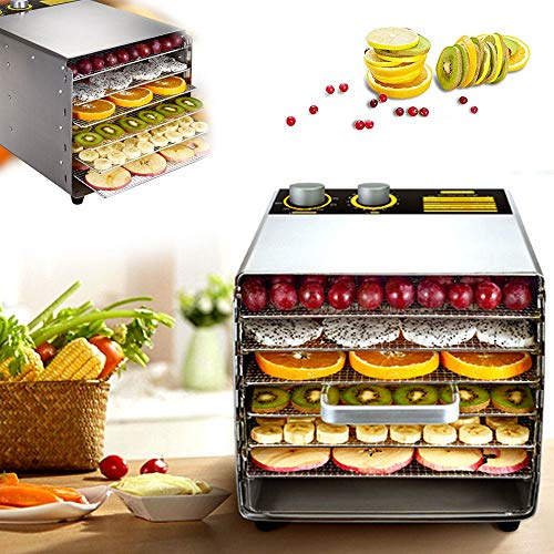 Read About 6 Layer Food Dehydrator Machine with Visualizing Front Door, All Stainless Steel, Thermos...