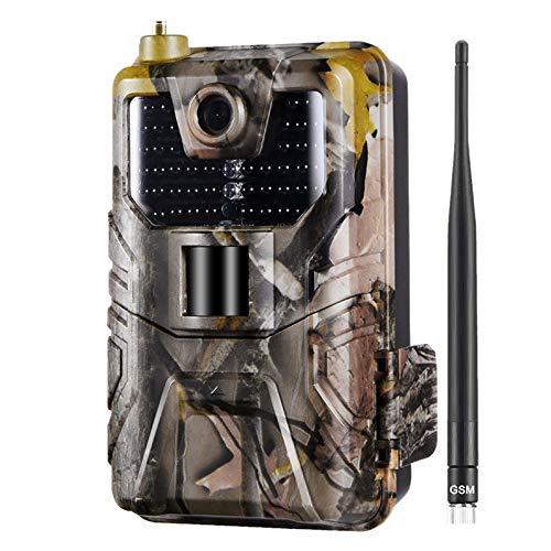 HUIYAN 1080P PIR-Sensor Wildkamera 20MP Jagdkamera 30fps Trail Kamera 2G SMS MMS SMTP E-Mail Cellular Jagdkameras