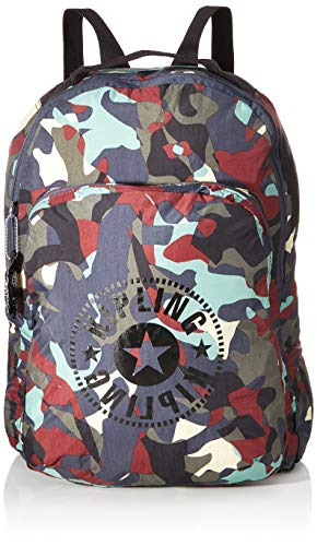 Kipling SEOUL PACKABLE Zaino, 44 cm, 22.5 l, Multicolore (CAMO L Light)