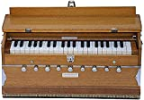 Harmonium by Maharaja Musicals, In USA, 9 Stops, 3 1/2 Octave, Double Reed, Coupler, Natural Color, Standard, Padded Bag, A440 Tuned, Musical Instrument Indian Sangeeta (GSB-AABG)