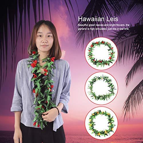 FOLOSAFENAR Decorate Yourself Guirnalda Tropical de Tela no Tejida Leis Hawaianos para Varias Fiestas para la decoración de Actividades personales