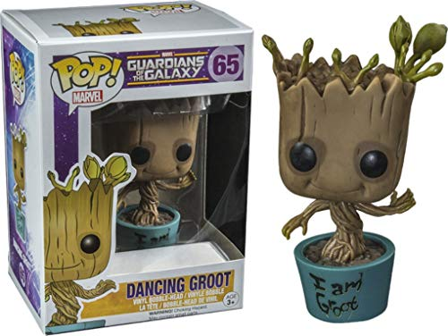 Funko 5253 – Guardianes de la Galaxia, Pop Vinyl Figure 65 Dancing Groot im Groot, 10 cm