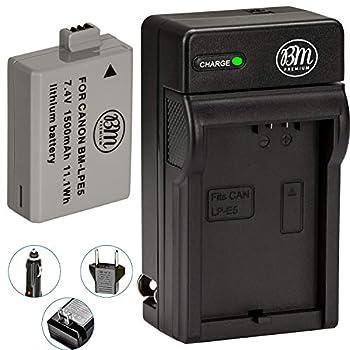 BM Premium LP-E5 Battery and Charger Kit for Canon EOS Rebel XS Rebel T1i Rebel XSi 1000D 500D 450D Kiss X3 Kiss X2 Kiss F Digital SLR Camera