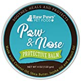 Raw Paws Natural Paw Wax for Dogs & Cats, 4-oz - Healing Dog Paw Balm & Paw Soother Protects & Heals, Cracked, Chapped Pads, Outdoor, Winter, Summer - Paw Butter for Dogs - Dogs Paw Protection Wax