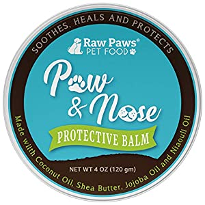 Raw Paws Natural Paw Wax for Dogs & Cats, 4-oz – Healing Balm & Paw Soother Protects & Heals – Cracked, Chapped Pads – Outdoor, Summer, Winter, Ice – Paw Butter Balm for Dogs – Dogs Paw Protection Wax