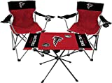 Rawlings NFL 3-Piece Tailgate Kit, 2 Gameday Elite Chairs and 1 Endzone Tailgate Table, Atlanta Falcons