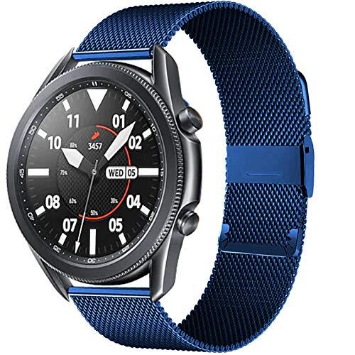 CMXXFA 20 / 22mm para Huawei Watch GT2 Pro/FIT Band para Samsung Galaxy Watch 3 45 / 41mm Cinturón de Acero Inoxidable Milanese Active 2 46 / 42mm Correa