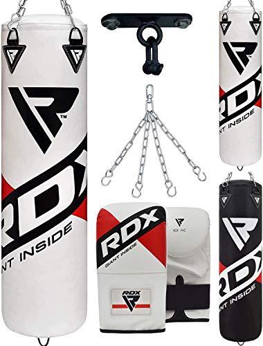 RDX Sac de Frappe et Gants de Boxe Kit pour MMA, Muay Thaï D'entraînement, Rempli Lourd Bag pour...