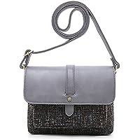 Ecosusi Flap-over Women Shoulder Crossbody Bag with Back Pocket