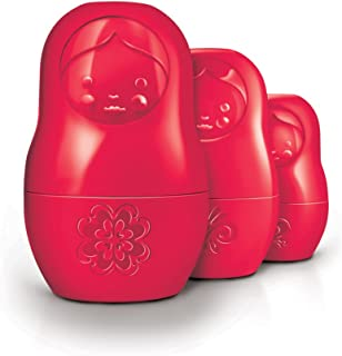 Fred M-CUPS Red Matryoshka Dry Measuring Cups, Set of 6