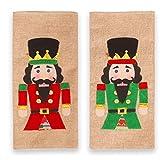 PHILSP Cubiertas para Botellas de Vino 2 unids/Set Navidad Champagne Cubiertas para Botellas de Vino Tinto Lino Nogal Soldado Decoración