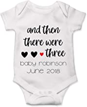Custom Pregnancy Announcement Onesie Reveal Then There were 3 Baby