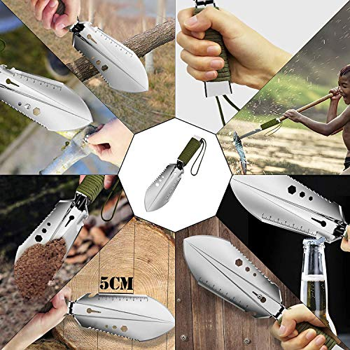 MOCARE Garden Shovel Weeder, Portable Hand Trowel Tool Digging Planting Cutting Weeding Multitools for Gardening Camping Survival Hiking Outdoor