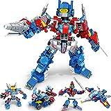 GiGimelon 4-in-1 Building Transform Robots, Deformation Autobots Action Figures, Vehicles Model Brick Blocks Kids Toys Gift Idea (404PCS)