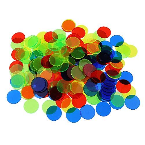 freneci 500 Piezas de Juego de Bingo Profesional Fichas de Fichas de Bingo de Plástico - Multicolor