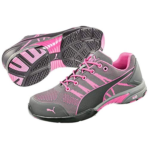 Puma 642910.41Celerity Knit Pink Sicherheitsschuhe für Damen, flach, S1 HRO SRC, Größe41