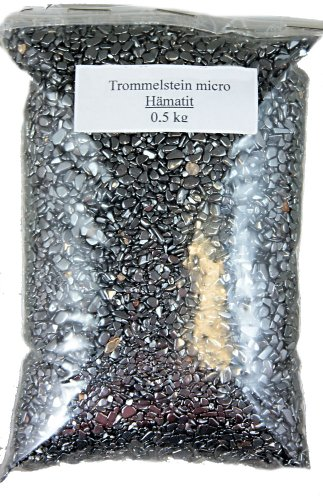 Edelsteine, poierte Trommelsteine, Hämatit XXS, 500 g