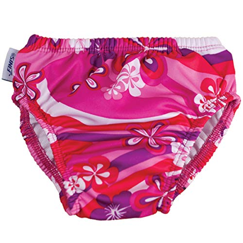 Finis Mädchen Swim Diaper Flower Power L Schwimmen Windel, pink/Purple/White, 10-13 kg
