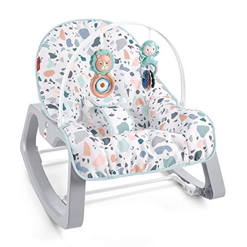 Fisher-Price Hamaca con Vibraciones relajantes, se Puede Usar Desde el Nacimiento hasta 18kg (Mattel GWD39)