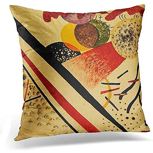 Popcorn In Spring Resumen Kandinsky Sin título Wassily Expresionismo Bauhaus Funda de Almohada Decorativa Decoración para el hogar Funda de Almohada Cuadrada