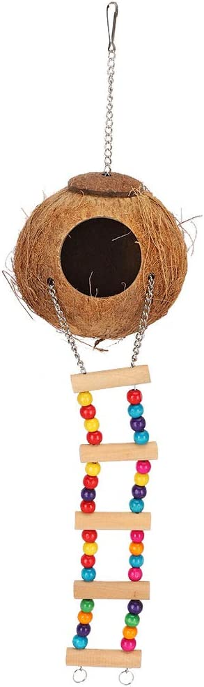 Petyoung Challenge the lowest price of Japan Coconut Husk Parrot Nest Swing with Bed Ladde Attention brand Toys Cave