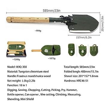 WJQ -308 Pelle militaire chinoise pliante portable 18 en 1 avec étui étanche original