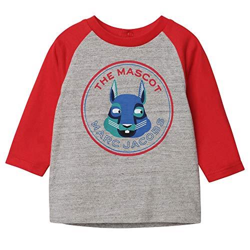 Little Marc Jacobs Langarm T-Shirt BABYAUSSTATTUNG GRAUN ROT 12M